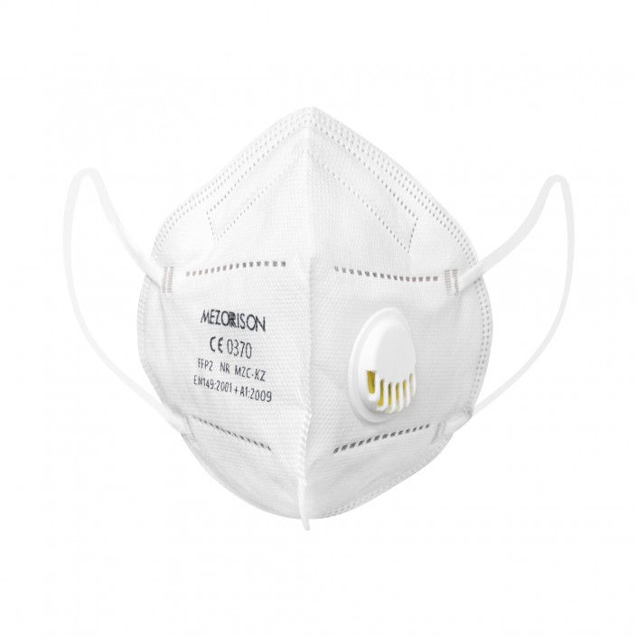 Set 50 Masti cu 5 straturi, standard KN95/N95/FFP2, protectie respiratorie cu supapa, valva pentru expiratie, protectie 98%, MEZORISON